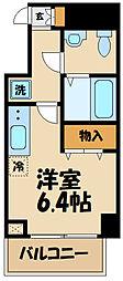 N-stage Toyoda 9階1Kの間取り