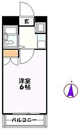 JR高崎線 北鴻巣駅 徒歩4分の賃貸マンション 4階1Kの間取り