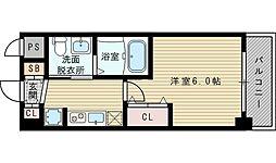 エステムコート新大阪VIIIレヴォリス[6階]の間取り