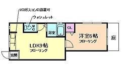 大阪府箕面市桜5丁目の賃貸アパートの間取り