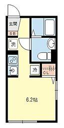 ティーエム三軒茶屋[1階]の間取り