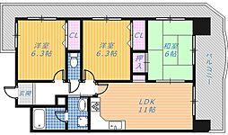 メゾンリーガル48[4階]の間取り