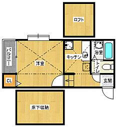 コンフォートベネフィス姪浜6[1階]の間取り