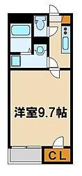 JR八高線 毛呂駅 徒歩7分の賃貸アパート 2階1Kの間取り