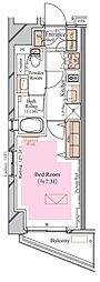 京急空港線 糀谷駅 徒歩4分の賃貸マンション 5階1Kの間取り