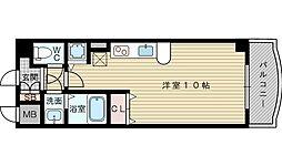 ノルデンタワー新大阪アネックス 3階ワンルームの間取り