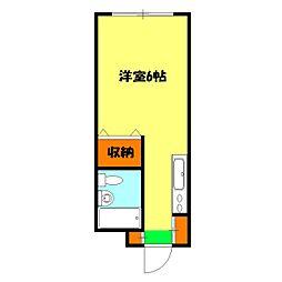 木藤アパート[102号室]の間取り