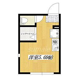 東京都北区浮間3丁目の賃貸アパートの間取り