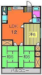 コーポムラマツV[2階]の間取り
