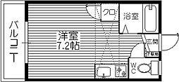 リバービュー原田[203号室]の間取り
