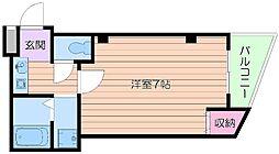 Osaka Metro御堂筋線 天王寺駅 徒歩5分の賃貸マンション 1階1Kの間取り