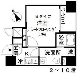 アイディ西五反田 3階1Kの間取り