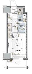 JR東海道本線 川崎駅 徒歩10分の賃貸マンション 5階1Kの間取り
