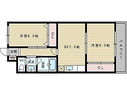 セジュールT&M[1階]の間取り