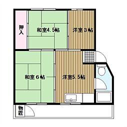 竹山第2[5階]の間取り
