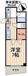 都営新宿線 瑞江駅 徒歩10分の賃貸マンション 1階1Kの間取り