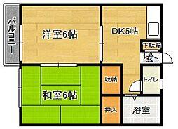 浦川アパート[207号室]の間取り