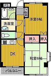 メゾンドボヌアー[3階]の間取り
