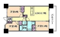 西九条アーバンコンフォート[4階]の間取り