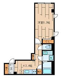 小田急小田原線 下北沢駅 徒歩11分の賃貸マンション 1階1Kの間取り
