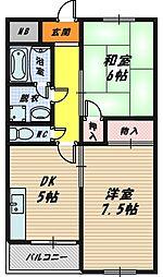 都マンション関目[3階]の間取り