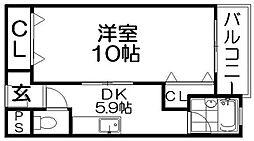 本町ビル[2階]の間取り
