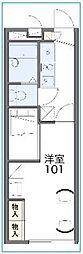 東武野田線 大和田駅 徒歩15分の賃貸アパート 1階1Kの間取り