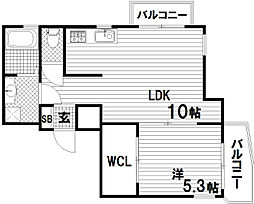 兵庫県神戸市長田区大谷町1丁目の賃貸マンションの間取り