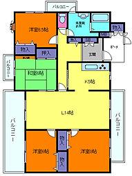 シャルマン屋敷本[2階]の間取り