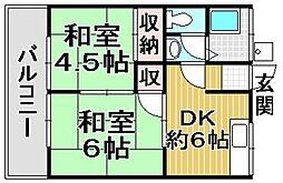 中野荘[102号室]の間取り