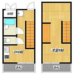 ハスネ・ワールドアパートメント[M2号室]の間取り