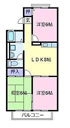 コマーノ松ヶ丘A棟[1階]の間取り