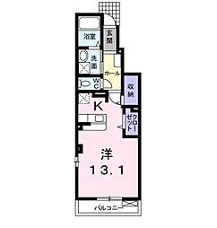 ローレル倉敷 A[1階]の間取り