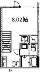 BASE上井草II 2階ワンルームの間取り