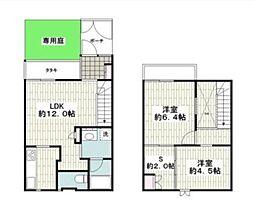 [テラスハウス] 神奈川県横浜市港南区日野2丁目 の賃貸【/】の間取り