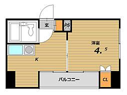 DAIMON板宿[6階]の間取り