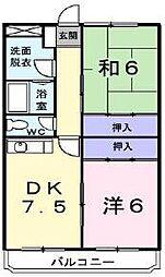 シティマンションタナベ[2階]の間取り