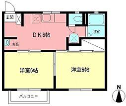 湘南セレナ・ドゥ[2階]の間取り