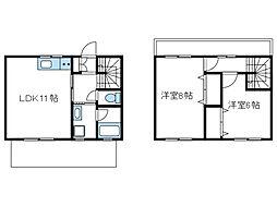 [テラスハウス] 神奈川県相模原市南区磯部 の賃貸【/】の間取り