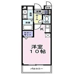 サンクレール北花田[2階]の間取り