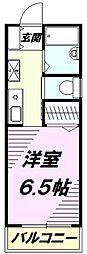 東京都八王子市大和田町6丁目の賃貸アパートの間取り