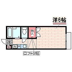 兵庫県神戸市西区北別府1丁目の賃貸アパートの間取り