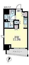 東京メトロ丸ノ内線 後楽園駅 徒歩9分の賃貸マンション 2階ワンルームの間取り