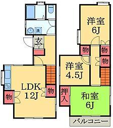 [一戸建] 千葉県千葉市若葉区若松台2丁目 の賃貸【/】の間取り