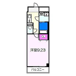 JR阪和線 三国ヶ丘駅 徒歩4分の賃貸マンション 4階1Kの間取り