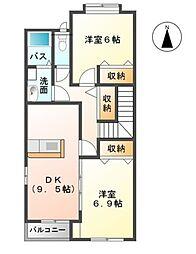 アレーティア[2階]の間取り