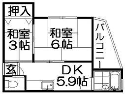 本町ビル[3階]の間取り