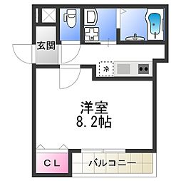 Osaka Metro御堂筋線 西田辺駅 徒歩7分の賃貸アパート 1階1Kの間取り