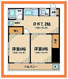 コーポマロニエ[2階]の間取り