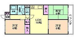 メゾン二本松[5階]の間取り